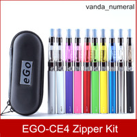 CE4 eGo Starter Kit Zipper Case E-Cig cigarette électronique paquet Unique Kit 650 mah 900 mah 1100 ma DHL