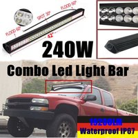 """Wholesale Rescue Boats - 42"""" 240W LED Light Bar 14400lm 60pcs 3W Combo Beam for Off-road SUV Boat Truck Jeep Pickup Tractor Emergency & Rescue Atv Ute Trailer"""