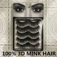 Wholesale Tool Box Factory Direct - Factory direct Free shipping Makeup Tools Accessories HU Eyelashes 5 pcs box 100% Hand Made 3D MINK HAIR lashes