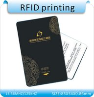 Wholesale Printing Card Rfid - Wholesale- Printing 100 pcs 125Khz RFID Writable T5577 Cards T5557 Rewritable Proximity Thick Access Control Smart Card