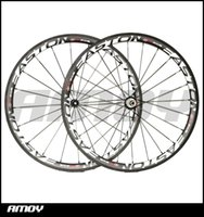 Wholesale Wheelset Clincher China - Easton 38mm carbon wheels Made in China carbon alloy wheels glossy matte bike wheelset clincher Free shipping