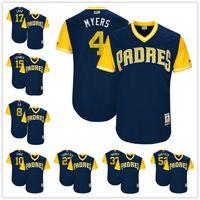Wholesale Xxl Six - Custom San Diego Padres Nickname Jersey #4 Myers #15 Spangy #52 Brotato #10 Froe Three-Six Woody Navy Blue 2017 Little League World Series