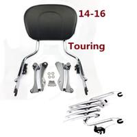 Wholesale Backrest Rack - Motorcycle accessories Sissy Bar backrest + Rack + Docking hardware For Harley touring Street gli 14-17