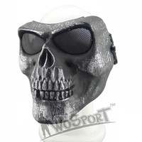 Wholesale Steel Skull Face Mask - New M02 Airsoft Paintball Tactical Mask Outdoor Full Face CS Ghost Skull Mask Halloween Party Horror Mask Movie Prop (Steel Net )