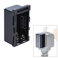 Wholesale Monitors Holder - Wholesale- NP-F750 4pcs AA Battery Pack Case Battery Holder Power as NP-F750 Series Battery for LED Video Light Panel Monitor