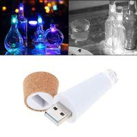 Wholesale Usb Plug Light Switch - Christmas Halloween Wedding Night Lights USB Charger Led Colorful Wine Bottle Plug Creative Romantic Corky ABS Cork Material