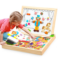 Wholesale Puzzle Block Game - Board Box Magnetic Montessori Wooden Toys Block Building Game Sticks Lepin Box Educational Toy Puzzle Teaching Aids Set Materials