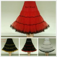 Wholesale Rock Roll Skirts - The New Boneless Skirt Rock and Roll Ball Petticoat Ballet Skirt Wedding Dress Panier Dress Bustle 4 Colors