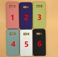 Wholesale Official Logo - For Samsung Galaxy S8 S8 Plus Original Official Silicone Case Style 1:1 Phone Case With Original Logo Color+box