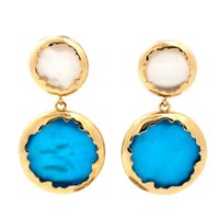 Wholesale Shell Earings - Brand New GUST Rhinestone Crystal Fahion Elegant Party Blue shell Earings Drop Earring Fahion Simple for Women Girl E045.