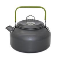 aluminium wasserkocher großhandel-0.8L Tragbare ultraleichte Outdoor-Wasserkocher - Wandern Camping Picknick Wasserkocher Teekanne Kaffeekanne Eloxiertem Aluminium (Retail Box Verpackung)