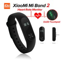 Indicatore di frequenza cardiaca originale di Xiaomi Miband 2 Mi Band 2 Monitor di frequenza cardiaca Bluetooth Touchpad 4.0 di display OLED per Android