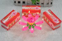 Wholesale Sales Sings - Factory Wholesale Single Layer Beautiful Shape Lotus Birthday Candle Music Singing Flower Type Candles Hot Sale 0 85ch R