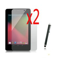 """Wholesale Stylus Pen For Nexus - Wholesale- 3in1 2x LCD Clear Screen Protector Films Protective Film Guards +1x Stylus Pen For Google Nexus 7 1nd 1rd 2012 7"""" Tablet"""