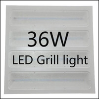ingrosso pannelli a led ufficio-36W 600 * 600 LED Grill Panel Light / Lampada / Lite / Licht-Incessed Plafoniera per pannelli a griglia per uso ufficio Plafoniera a LED a soffitto New Model LE