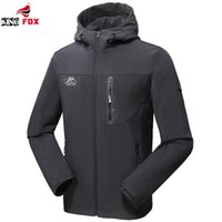 Wholesale Fox Clothing Men - Wholesale- KING FOX men`s fashion autumn winter jacket men women outwear soft shell waterproof brand clothing sportswear bomber jacket 5XL