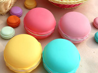 Wholesale Macaron Storage Boxes - Macaron jewelry case Cute Candy Color Macaron, Mini Cosmetic Jewelry Storage Box Jewelry Box,free shipping