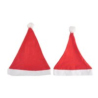 Wholesale Santa Claus Christmas Cap - Adult Christmas Party Santa claus accessories hats Gifts Decoration Cute adults Christmas Red And White cap Child Christmas cap hat nonwoven