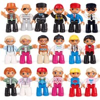 Wholesale Plastic Doll Joints - Building Blocks Dolls Large Particles Aberdeen In Bulk Delicate Accessories Doll Various Occupations Bright Colors Flexible Joints 1 95lx I1