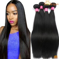 Wholesale Malysian Weave - 8a malysian straighrt hair weave 4 bundles malaysian peruvia brazilian virgin hair straight unprocessed remy human hair extensions