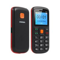 Wholesale old chinese mobile - Uniwa V708 Big SOS Button Charging Cradle mobile phone Old Man Cellphones FM RADIO Dual SIM cheaper phone