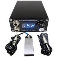 cabos de energia tatuagem venda por atacado-Profissional Digital Dual Black Tattoo Power Supply Kit Com 1 pcs Pedal Switch 1 pcs Clipe Cabo Frete Grátis