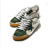 Wholesale Old Fashion - Do the Old Shoes 2017 Spring New Fashion GGDB Low Top Flat Bottom with Round Head Casual Shoes, Men Women Green Stars Shoes Sneakers