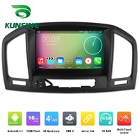 Wholesale Gps Navigation Opel - Quad Core 1024*800 Android 4.4.4 Car DVD GPS Navigation Player Car Stereo for Opel Vauxhall Insignia 08-13 Radio 3G Wifi Bluetooth KF-V2432Q