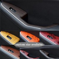 Wholesale animal door protector for sale - 30 CM wood grain car stickers protective film car styling for interior center console dash board protectors