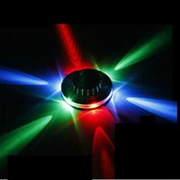 Звуковой активированный вращающийся UFO LED Music Laser Stage KTV Bar Party Wedding Club Projector Light