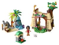 Wholesale Princess House Set - Lepin 25004 Princess Moana's Island Adventure house cave area Building Block Set Maui Girls Toy Compatible with 41149