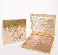 Wholesale Naked Concealer Palette - New Kylie Jenner The Wet Set 4color Bronzer & Highlighters Pressed Powder Palette Unbothered Get A Way By Kylie Cosmetics DHL Shipping naked