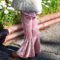 ingrosso pantaloni corduroy bordeaux-Everweekend Neonate Velluto a coste Boot Cut Pants Ins Hot Candy Colore Rosa e Borgogna Colore Sweet Children Cute Baby Autumn Spring Pants