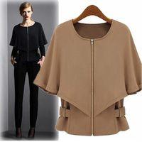 Wholesale Korean Style Women S Coat - Korean style women coat jacket waist was thin shawl short coats good quality autumn and winter Black jackets for women