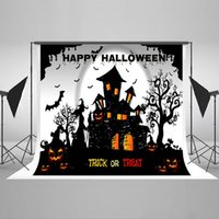 Halloween Photo Backdrops Cartoon Pumpkin Photographie Fond Matériau en tissu sans rides pour Celebration Party Photo Studio HJ02400