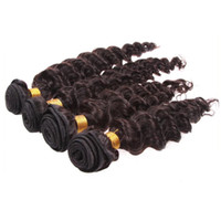 "Wholesale Deep Wave Peruvian 5a - FREE SHIPPING HOT Grade 5A 100% Unprocessed Peruvian Virgin Hair Extensions Human Hair Weave Double Weft Deep Wave #1b 8""-32"" 4pcs lot"
