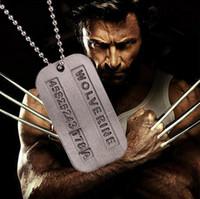Wholesale x men necklace - New X-Men Wolverine Classic X Series 2 Wolverine Vintage Silver Pendant Necklace Model toy gift