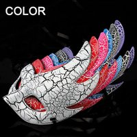 painted christmas ball - Beauty Face Venetian Mask Fashion Women Cosplay Half Face Masquerade Ball Masks Halloween Venetian Painted Party Christmas Gift