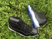 """Wholesale Number Lights - 2017best quality with box + Number """"45"""" """"23"""" Retro 11 Spaces Jams Basketball Shoes for Men Women Airs 11s Athletic Sport Sneakers Size 36-47"""
