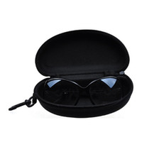 Wholesale glasses case holder - Universal Sunglasses Lense Storage Organizer Holder Box Compression Eyeglass Case Para Glasses Eyewear Box Cover Zipper Hook Bag