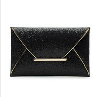 20pcs / lot Fashion Envelope estilo Lady Sparkling Dazzling Sequins Clutch Bag Purse Evening Party Handbag