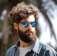 Wholesale Blue Ray Pc - WHO CUTIE Hot Square RAYS Sunglasses Men Women BANS Half Frame Brand Designer Inspired Hot Retro Classic Club Master Sun Glasses Shades OM39