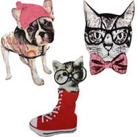 demir motifleri toptan satış-20 adet Demir On Patch Giyim Köpekler Kediler Için Yamalar parches ropa Işlemeli Ceket Spor Patchwork Motif Rozeti Aplikler Giysi aksesuarları