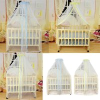 Wholesale Canopy Nets For Baby - Wholesale-Deliacte Summer Baby Bed Mosquito Mesh Dome Curtain Net for Toddler Crib Cot Canopy Jun9 Hot Selling