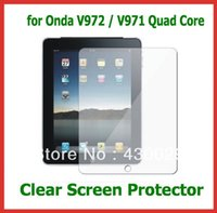 """Wholesale Wholesale V972 - Wholesale- 3pcs Clear Full Screen Protectors Size 237x182mm for 9.7"""" Tablet PC Onda V972   V971 Quad Core NO Retail Package Free Shipping"""
