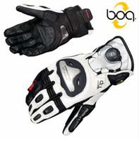 guantes de moto de titanio al por mayor-Japón Komine GK 166 Guantes de moto Hombres Motocicleta Guantes de competición de titanio BOA Street Top Guantes de cuero Pantalla táctil