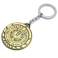 Wholesale Euro Key Chains - Euro-American Hot Movie Star Wars Battlestar Galactica Keychain Metal Alloy Key Chains Pendant Chaveiro Key Rings 10pcs lot