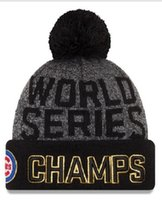 Wholesale Wholesale Order World - New Cubs Beanies Cap 2016 World Series Champions Caps Baseball Sport Knit Hat Pom Knit Hats Mix Match Order All Caps Top Quality Hat