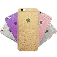 Wholesale Dust Plug Flash - Flash Powder Diamond-Shaped Lattice Case For iPhone 6 Plus 5 4 Soft TPU Phone Accessories Cover With Dust Plug