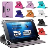 evrensel tablet 7inçlik kutu toptan satış-Sıcak Tablet kılıf Tablet için Evrensel Kılıflar 360 Derece Dönen Kılıf 10 PU Deri Standı Kapak 7 inç Kat Çevirme Dahili Kart Toka Kapakları